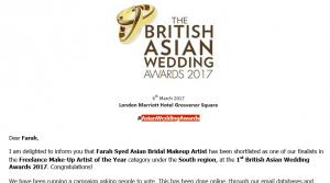 The British Asian Wedding Awards 2017